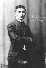 Franz Kafka – Le carte perdute - Oblique Studio