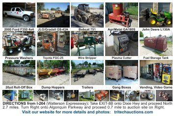 Visit our website for more details and photos - Tritech Auctions, Inc.