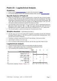 Logotechnical Analysis of Psalm 23 - labuschagne