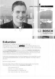 Exkursion zu Fa. Bosch - Technische Universität Darmstadt