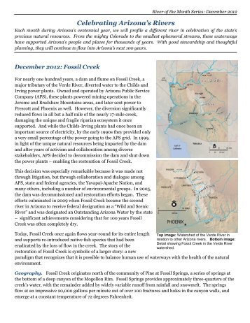 Fossil Creek - Western Resource Advocates