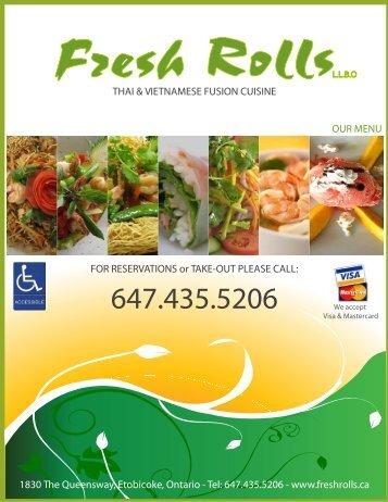 download our menu - Fresh Rolls Restaurant