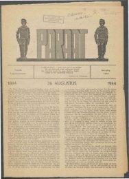 26 AUGUSTUS 1944 - Vakbeweging in de oorlog
