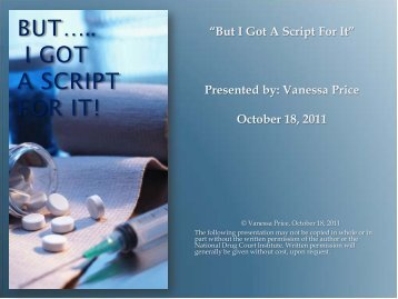 Download the Powerpoint slides - National Drug Court Institute