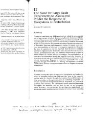 Carpenter, S.R. 1998. The need for large-scale experiments to ...