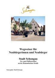 Wegweiser für Neubürgerinnen und Neubürger Stadt Schongau Tor ...