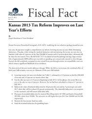 Kansas 2013 Tax Reform Improves on Last Year's ... - Tax Foundation