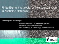Finite Element Analysis for Moisture Damage in Asphaltic Materials
