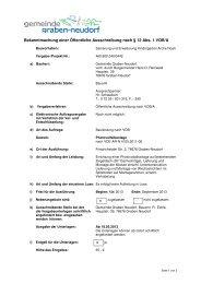 Öffentliche Ausschreibung nach VOBA - Gemeinde Graben-Neudorf
