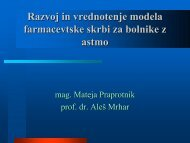Razvoj in vrednotenje modela farmacevtske skrbi za bolnike z astmo
