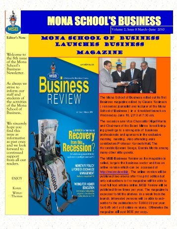 mona school's business mona school's business - Uwi.edu