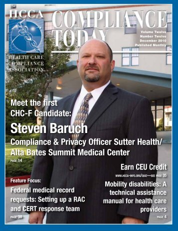 Steven Baruch - Health Care Compliance Association