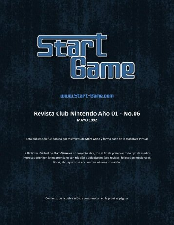 Revista Club Nintendo Año 01 - No.06 - Start-game.com