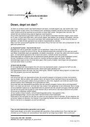 Soc Emo Gedrag en Opvoeding - Down depri en dan - VGGM
