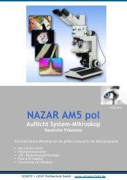 NAZAR AM5 pol - Schütz + Licht Prüftechnik GmbH