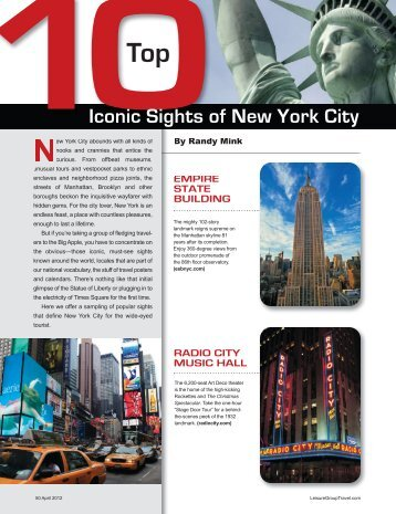 Top 10 NY Sights.pdf - Leisure Group Travel
