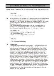4.4 Sicherheitsvorschriften speziell für das Standschiessen 25/50  m