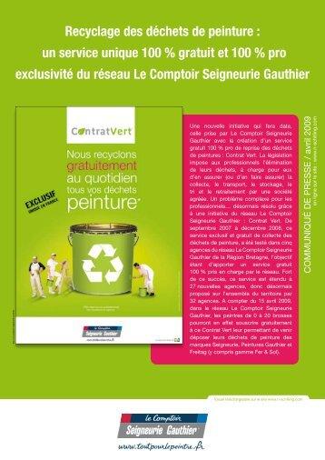Recyclage des déchets de peinture - Agence Nicole Schilling ...