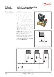Rankinio nustatymo balansiniai ventiliai LENO™ MSV-BD - Danfoss