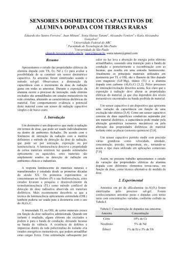modelo para resumo expandido - Boletim Técnico da FATEC-SP