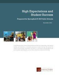 High Expectations and Student Success - Springfield Public Schools