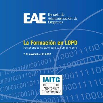 Más información.... - Agencia Española de Protección de Datos