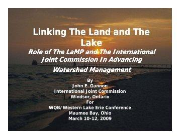 Linking The Land and The Lake - Western Lake Erie Basin Partnership