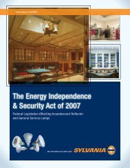 The Energy Independence & Security Act of 2007 - Osram Sylvania
