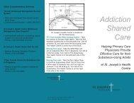 Brochure: Addiction Shared Care - St. Joseph's Health Centre Toronto