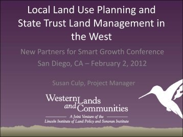 State Trust Land Management in - Sonoran Institute
