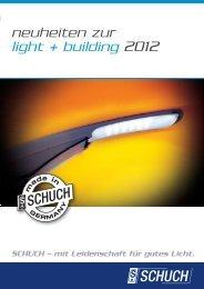 neuheiten zur light + building 2012 - Schuch
