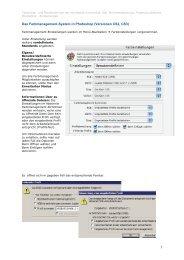 Zum Überblick des Farbmanagement-Systems in Photoshop