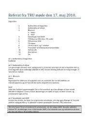 Referat fra TRU møde den 17. maj 2010.