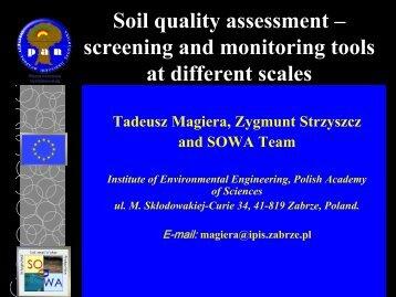 Soil quality assessment - Proland.iung.pulawy.pl