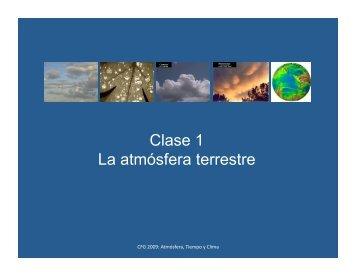 Clase 1 La atmósfera terrestre