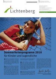 Ferienprogramm 2010 - Lichtenberg