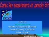 Cosmic ray measurement at Lomnicky Åtit