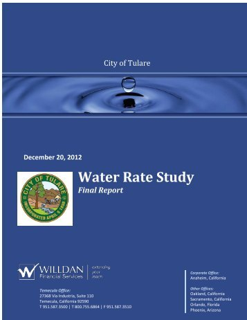 Water Rate Analysis - City of Tulare
