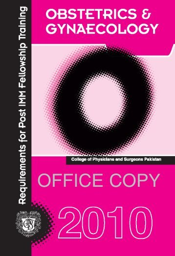 OFFICE COPY - e-Log Book - College of Physicians and Surgeons ...