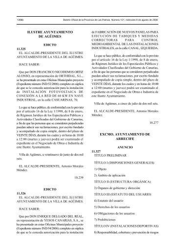 Reglamento de las instalaciones deportivas - Ayuntamiento de ...