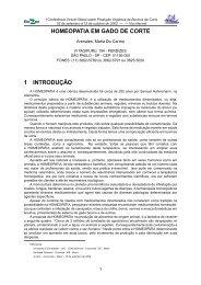 Homeopatia em gado de corte - Embrapa Pantanal