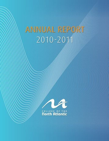 AnnuAl RepoRt 2010-2011 - Department of Advanced Education ...