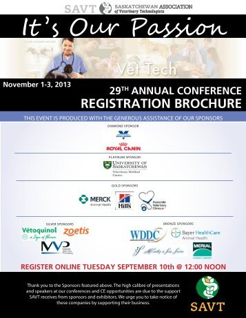 pdf of Registration Brochure - SAVT