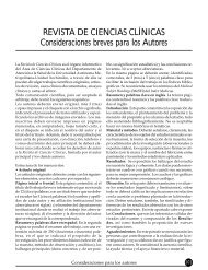 REVISTA DE CIENCIAS CLÍNICAS Consideraciones ... - Imbiomed