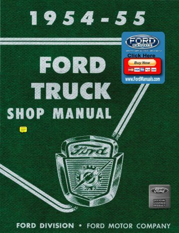 DEMO - 1954-55 Ford Truck Shop Manual - FordManuals.com