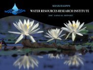 2007 Annual Report - Water Resources Research Institute