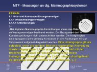 MTF - Messungen an dig. Mammographiesystemen