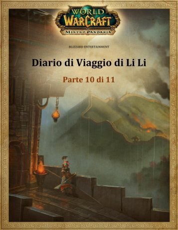 Diario di Viaggio di Li Li - Blizzard Entertainment