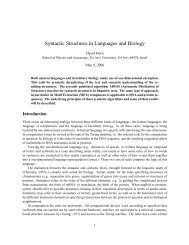 Syntactic Structures in Languages and Biology - ResearchGate