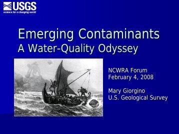 Emerging Contaminants - North Carolina - USGS